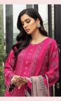 Embroidered Lawn Front Embroidered Lawn Back Embroidered Lawn Sleeves Embroidered Chiffon Contrast Dupata Dyed Cambric Lawn Trouser