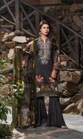 Digital Shirt 3 Mtr Palachi Dupatta 2.5 Mtr Trouser 2.5 Mtr Embroidered 1Pcs Neck