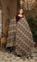Embroidered Velvet Shawl