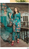 Embroidered Lawn Shirt  Chiffon Dupatta  Embroidered Trouser