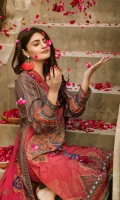 Digital Printed Embroidered Lawn Shirt Embroidered Chiffon Dupattta Dyed Trouser
