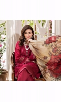 Schiffli Embroided Lawn Front = 1.15 Meter  Dyed Lawn Back = 1.15 Meter  Dyed Lawn Sleeves = 0.65 Meter  Tissue Silk Digital Printed Dupatta = 2.5 Meter  Cotton Trousers = 2.5 Meters  Schiffli Embroided Organza Border For Sleeves = 1 Meter