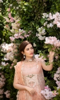 Embroided Lawn Front = 1.25 Meter  Embroided Lawn Back = 1.25 Meter  Embroided Lawn Sleeves = 0.65  Net Dupatta With Embroidery And Pearls = 2.5 Meter  Cotton Trousers = 2.5 Meters