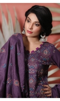 Embroidered Dhanak Shirt Embroidered Shawl Dyed Trouser