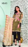 Embroidered Masoori Lawn Digital Printed Back Printed Sleeves Embroidered Chiffon Dupatta Dyed Lawn Trouser