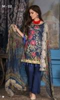 Embroidered Viscose Shirt Digital Print Chiffon Dupatta Dyed Bottom