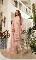 Embellished neck motif  Pure Organza hand woven jacquard shirt  Pure organza center panel Embroidered organza sleeves Schiffli embroidered dupatta with pearls  Embroidered organza dupattapallu  Embroidered organza ghera and sleeve lace  Embellished pure organza ghera lace  3d flowerschffli sleeve lace  Schiffli lace panel and sleeve  Schiffli lace for ghera  Grip embroidered undershirt  Jacquard trouser