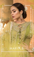 chiffon embroidered front panel 1 chiffon embroidered front panel 2 chiffon dyed back panel 1 chiffon dyed back panel 2 chiffon embroidered sleeves sateen embroidered sleeve lace organza embroidered ghera lace front 1 organza embroidered ghera lace front 2 organza embroidered ghera lace back organza embroidered panel patti organza embroidered neckline sateen digital printed trouser organza embroidered trouser lace net embroidered dupatta sateen digital printed dupatta pallu sateen embroidered dupatta lace cotton satin undershirt hand embellished tassels