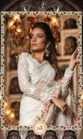 Hand Embellished neckline  Embroidered chiffon blouse front Chiffon blouse back  Embroidered chiffon sleeves with pearls Embellished and embroidered organza sleeve lace Embroidered net sari fall fabric Embroidered net sari pallu fabric Embroidered organza sari pallu lace Embroidered organza sari lace Grip petti coat Grip blouse lining