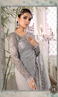 Embroidered net saree fall Embroidered chiffon saree pallu with diamantes spray Embroidered organza pallu Embroidered organza pallu lace Embroidered organza blouse front with hand embellishments Embroidered organza sleeves Dyed organza blouse back Cotton satin blouse inner and peti coat
