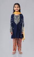 Shirt fabric: Arabic lawn Trouser fabric: Lawn Dupatta fabric: Chiffon Straight embroidered shirt with printed tulip shalwar and chiffon dupatta embellished with kiran lace.