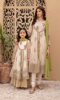 Shirt Fabric: Organza Under Shirt: Cotton Satin Dupatta Fabric: Chiffon Trouser Fabric: Organza Front open gown with embroidered neck, sleeves and ghera Screen printed undershirt Embellished with gota, tassels and tilla balls Organza Sharara