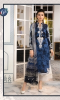 Printed shirt Printed trouser Printed chiffon dupatta Embroidered neckline Embroidered ghera Embroidered trouser patches