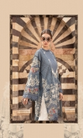 Printed lawn front Printed lawn back Printed lawn sleeves Printed cambric trouser Printed tissue silk dupatta Embroidered organza sleeves patch 2 pieces Embroidered organza sleeves patch 2 pieces Embroidered Lawn Center Panel Embroidered organza sleeves lace Embroidered organza ghera lace