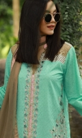 3 Piece Embroidered Cotton Khaadi Suit