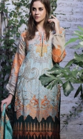 Embroidered Khaadi Net Unstitched 3 Piece Suit