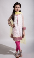 3 piece Frock Tights and dupatta White net frock with embroidery on hem and slevees