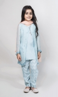 3 Piece Gown, Trouser and Dupatta