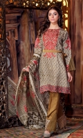 Print Embroidered Viscos Shirt Embroidered Viscos Trouser Print Chiffon Dupatta