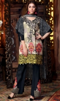 Print Embroidered Linen Shirt Embroidered Linen Trouser Printed Chiffon Dupatta