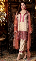 Embroidered Linen Shirt Embroidered Linen Trouser Embroidered Net Dupatta