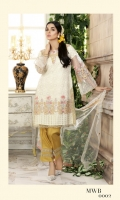 Embroidered Net Shirt Embroidered Net Dupatta Viscose Silk Trouser with Embroidered patch Viscose Silk Inner Shirt