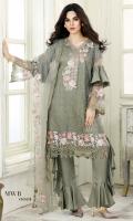 Embroidered Net Shirt Embroidered Net Dupatta Viscose Silk Trouser Viscose Silk Inner Shirt
