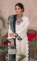 Embroidered Front (Lawn) Embroidered Front Border (Lawn) Embroidered Sleeve (Lawn) Printed Back (Lawn) Embroidered Dupatta (slub Net) Printed Trouser (Cotton)