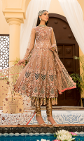 Embroidered Front Body Net. Embroidered Back Body Net. Embroidered Front + Back kalli  Net. Embroidered Sleeves Net. Embroidered Dupatta Net.