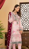 Embroidered Front Chiffon. Embroidered Back Chiffon. Embroidered Sleeves Chiffon. Embroidered Dupatta Chiffon Contrast. Embroidered Gala Motif. Embroidered Front Border. Embroidered Front Border, 2. Embroidered Back Border. Embroidered Sleeves Border. Embroidered Trouser Border. Border. Trouser.