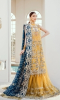 EMBROIDERED NET HAND MADE FRONT BACK AND SLEEVES EMBROIDERED  CHIFFON DUPATTA EMBROIDERED HAND MADE DAMAN PATCH  EMBROIDERED HAND MADE SHARA JAMAWAR INNER AND ACCESSORIES