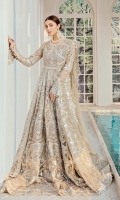 EMBROIDERED NET HAND MADE FRONT BACK AND SLEEVES  EMBROIDERED NET DUPATTA EMBROIDERED HAND MADE DAMAN PATCH  GRIP INNER AND ACCESSORIES.
