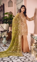 EMBROIDERED CHIFFON FRONT BACK AND SLEEVES EMBROIDERED FRONT BACK DAMAN PATCH EMBROIDERED NECK PATCH EMBROIDERED CHIFFON DUPPATA GRIP TROUSER AND ACCESSORIES