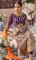 EMBROIDERED CHIFFON FRONT BACK AND SLEEVES EMBROIDERED FRONT BACK DAMAN PATCH EMBROIDERED CHIFFON DUPPATA EMBROIDERED GRIP TROUSER AND ACCESSORIES