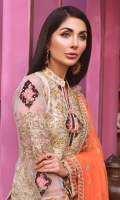 EMBROIDED HANDMADE MESORI FRONT AND SLEEVES. EMBROIDED MESORI BACK. EMBROIDED HANDMADE FRONT , BACK AND SLEEVES PATTI. EMBROIDED NECK PATTI. EMBROIDED TROUSER PATTI. EMBROIDED CHIFFON DUPATA. JAMAWAR TROUSER AND ACCESSORIES.
