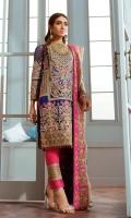 Embroidered Unstitch Three Pcs Chiffon Suit