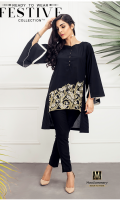 Lawn Ready To Wear Kurta  Boat Neckline Embroidered Front  Plain Full Sleeves Plain Back