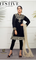 Lawn Ready To Wear Kurta  Banded Neckline Embroidered Front  Embroidered Full Sleeves Plain Back