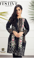 Lawn Ready To Wear Kurta  Boat Neckline Embroidered Front  Embroidered Full Sleeves Plain Back