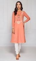 EMBROIDERED FRONT 1 PIECE EMBROIDERED PATTI 1 PIECE PLAIN BACK AND SLEEVES 1.80 METERS