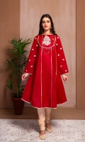 A STUNNING MAROON SHIRT WITH EMBROIDERED SLEEVES AND YOKE