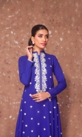AN INTRICATED EMBROIDERED SHIRT WITH LACES ON SLEEVES AND DAMAN