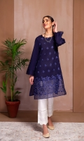 A STYLISH  SHIRT WITH EMBROIDERED FRONT, SLEEVES AND ORGANZA BORDER