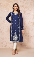 A TRADITIONAL READY TO WEAR SHIRT WITH EMBROIDERED FRONT AND EMBELLISHMENTS.