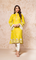 EMBROIDERED LAWN FRONT 1 PIECE PLAIN BACK & SLEEVES 2.0 METERS