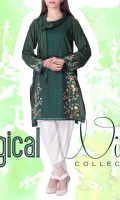 linen Embroidered Ready To Wear Kurta  Boat Neckline Embroidered Front Full Sleeves Straight Hem Plain Back