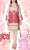 jacquard Embroidered Ready To Wear Kurta  Banded Neckline Embroidered Front Full Sleeves Straight Hem Printed Back
