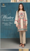 2 piece Linen Ready To Wear Suit Boat Neckline Embroidered Front  Plain Full Sleeves Plain Full back Plain Trouser