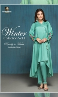 1 piece Linen Ready To Wear Shirt Banded Neckline Plain Front  Embroidered Full Sleeves Plain Full back