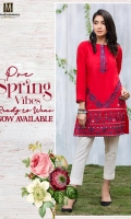 1 piece Cambric Ready To Wear Shirt Boat Neckline Embroidered Front Plain Full Sleeves Plain Full back